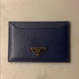 Navy Prada Card Holder
